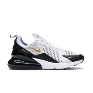 Nike Air Max 270 White Metallic Gold Black