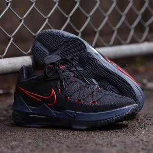 Nike LeBron 17 Low Black Red Dark Grey 1