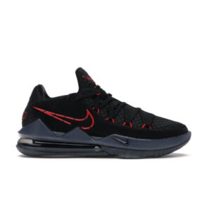 Nike LeBron 17 Low Black Red Dark Grey
