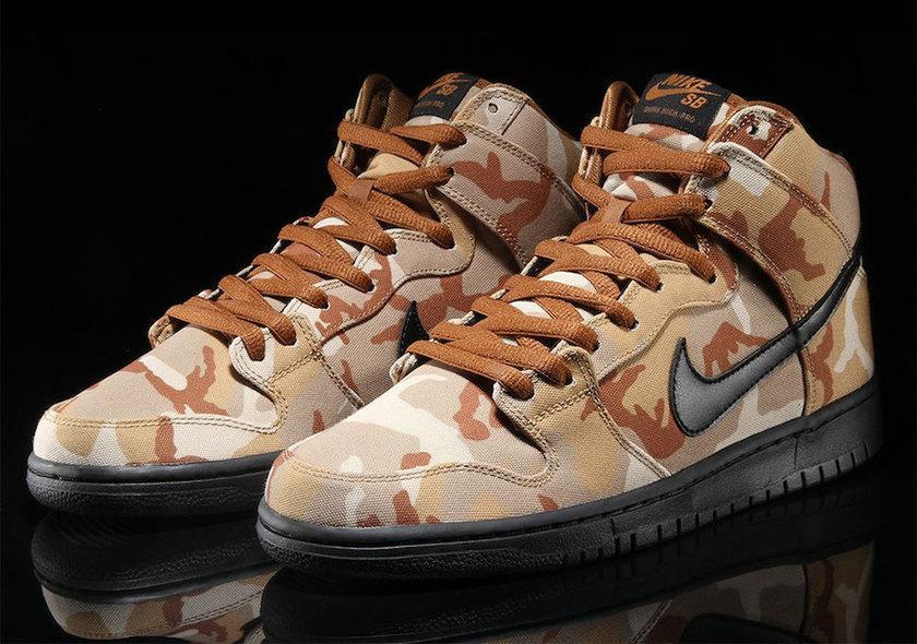 Nike SB Dunk High Pro Desert Camo 4