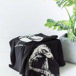 Rhude x LESSONS eagle print T-shirt-10