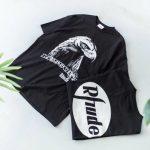 Rhude x LESSONS eagle print T-shirt-8