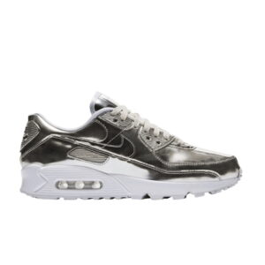 Wmns Air Max 90 Metallic Pack Chrome