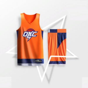 2019 BasketMan OKC Thunder Orange Uniform