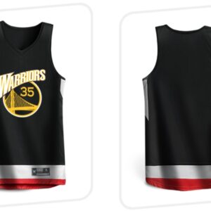 2019 BasketMan Warriors 35 Black Uniform 1