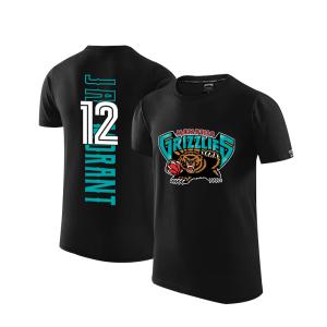 2020 Grizzlies 12 Ja Morant Black T shirt