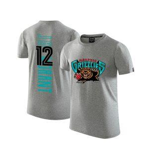 2020 Grizzlies 12 Ja Morant Gray T shirt