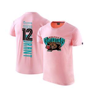 2020 Grizzlies 12 Ja Morant Pink T shirt 1
