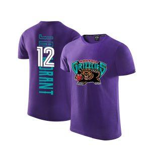 2020 Grizzlies 12 Ja Morant Purple T shirt 1