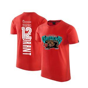 2020 Grizzlies 12 Ja Morant Red T shirt 1