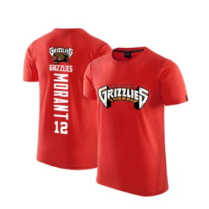 2020 Grizzlies 12 Ja Morant Red T shirt