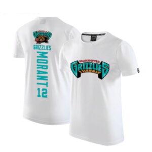 2020 Grizzlies 12 Ja Morant White T shirt 1