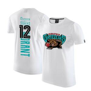 2020 Grizzlies 12 Ja Morant White T shirt