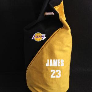 2020 Los Angeles Lakers James 23 Black Yellow Bag