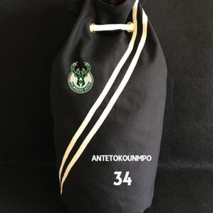 2020 Milwaukee Bucks Antetokounmpo 34 Black Bag