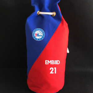 2020 Philadelphia 76ers Embiid 21 Red Blue Bag