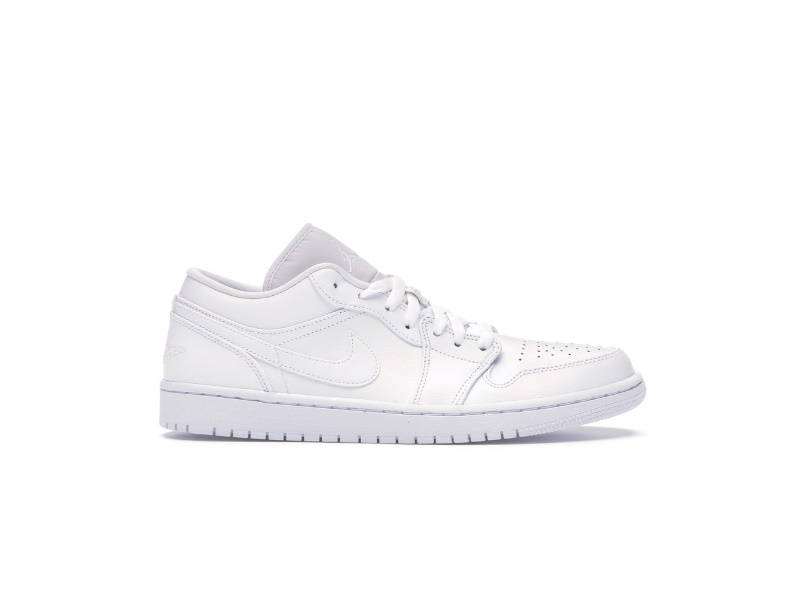 Air Jordan 1 Low Triple White Fog Grey