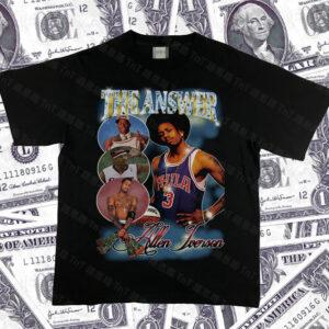 Allen Iverson Hiphop Vintage Rap Tee Higher Brothers