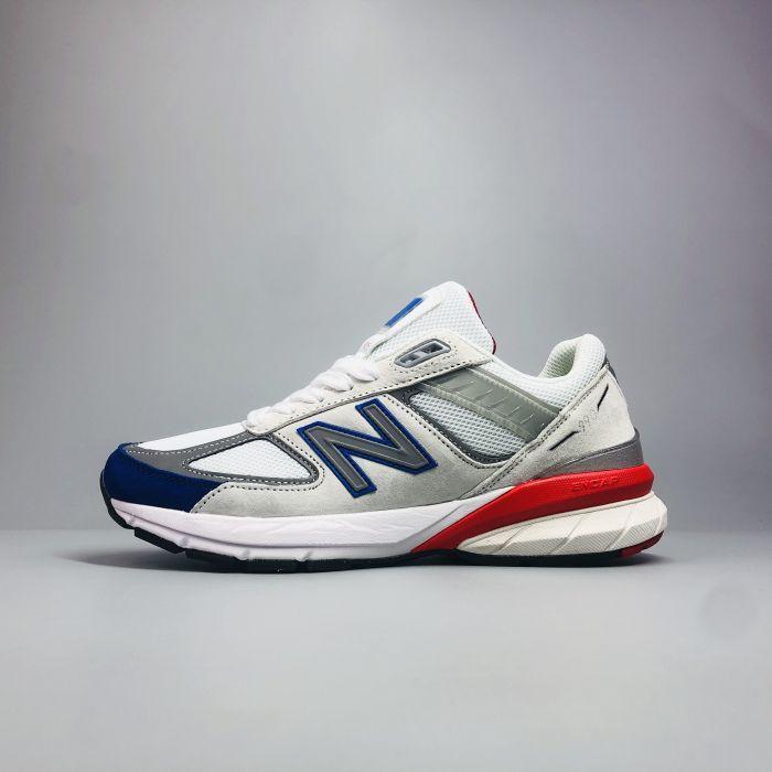 New Balance 990 V5 Grey Royal Red 1