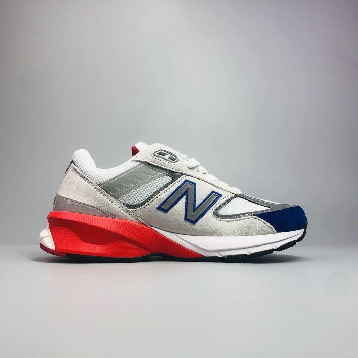 New Balance 990 V5 Grey Royal Red 2