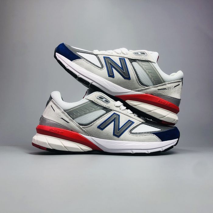 New Balance 990 V5 Grey Royal Red 4