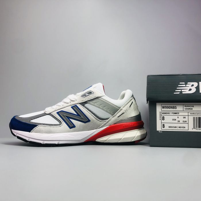 New Balance 990 V5 Grey Royal Red 8