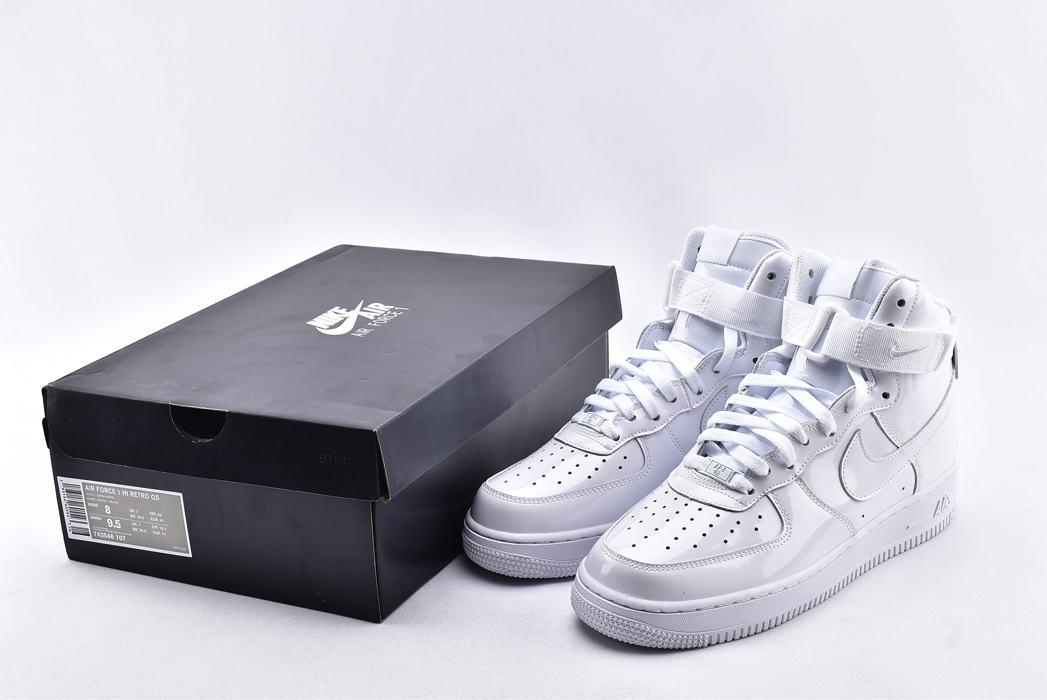Nike Air Force 1 High QS Sheed Triple White 10