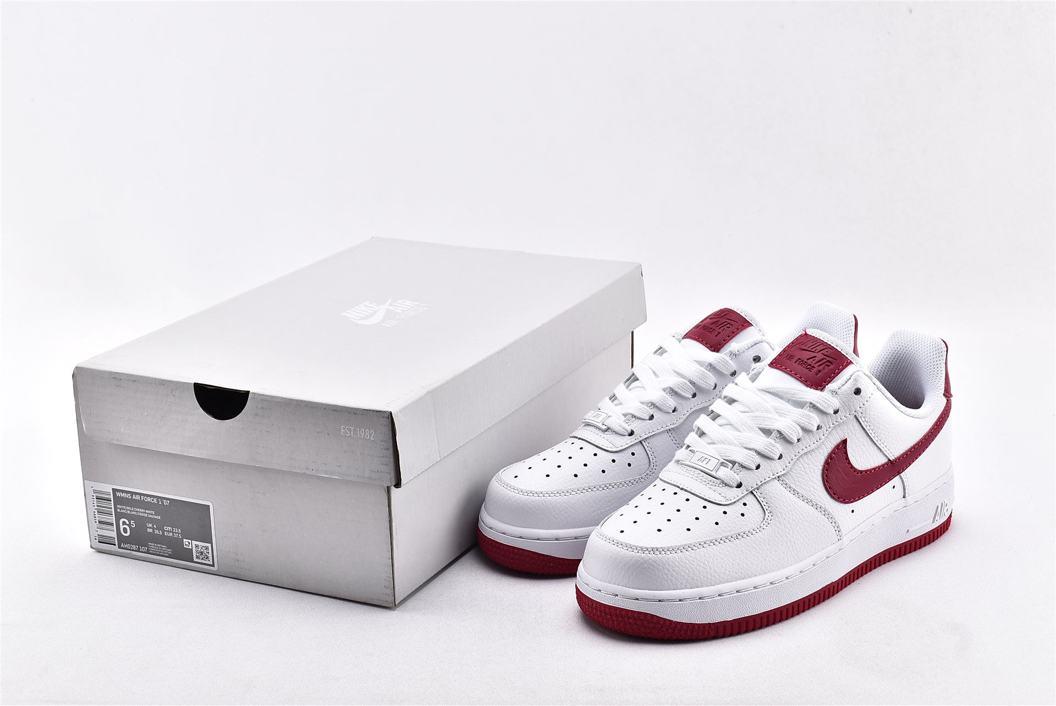 Nike Air Force 1 Low White Wild Cherry W 10