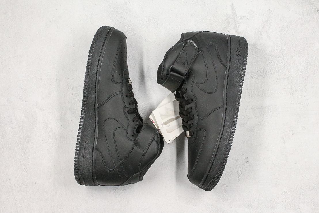 Nike Air Force 1 Mid Black 2016 9