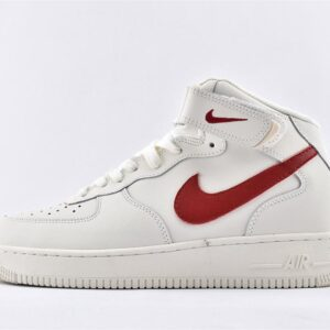 Nike Air Force 1 Mid Sail University Red 1