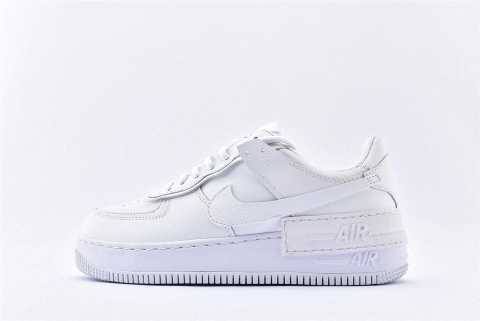 Nike Air Force 1 Shadow Triple White W 1