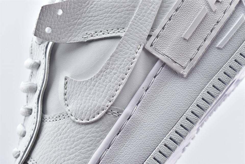 Nike Air Force 1 Shadow Triple White W 12