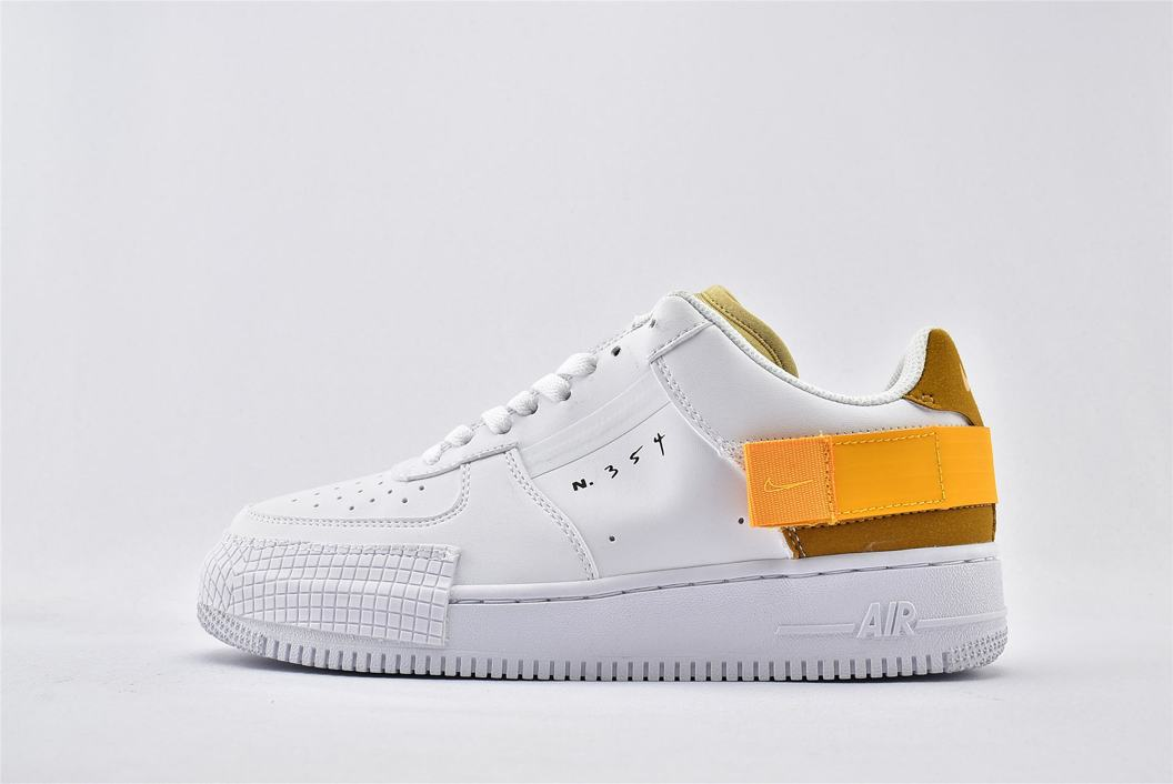 Nike Air Force 1 Type White Gold 1