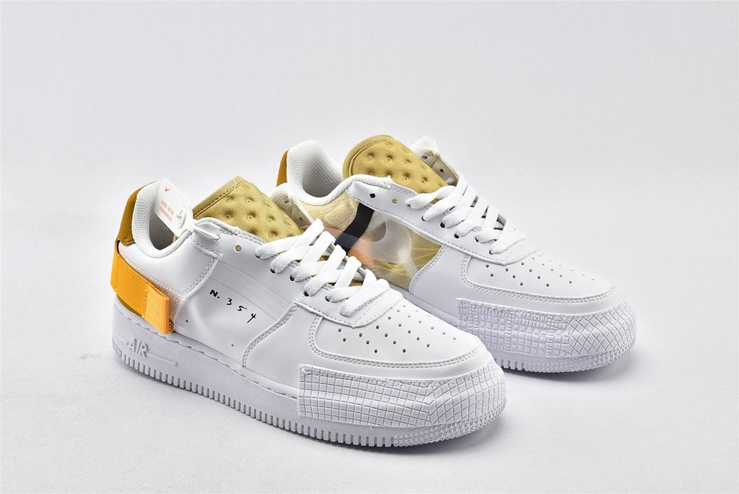 Nike Air Force 1 Type White Gold 2