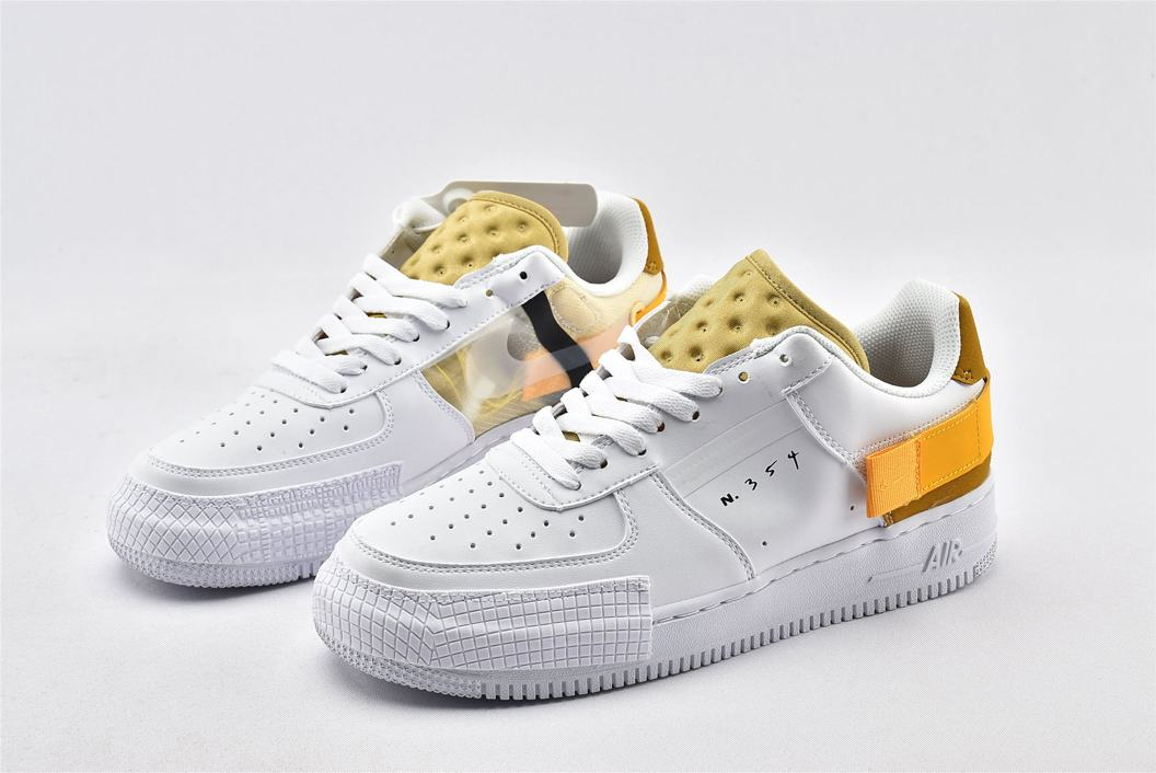 Nike Air Force 1 Type White Gold 4