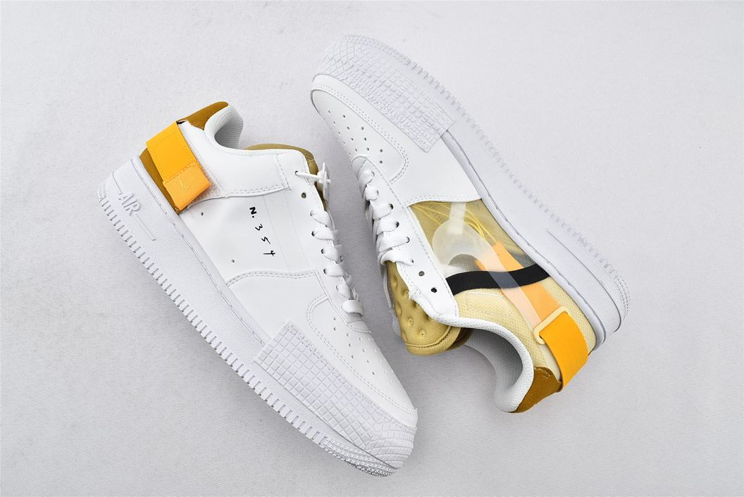 Nike Air Force 1 Type White Gold 5