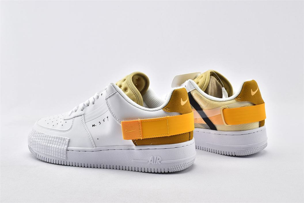 Nike Air Force 1 Type White Gold 7