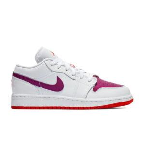 Nike Air Jordan 1 Low GS White Berry