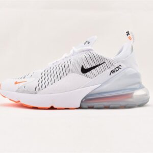 Nike Air Max 270 White Black Total Orange 1