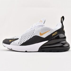 Nike Air Max 270 White Metallic Gold Black 1