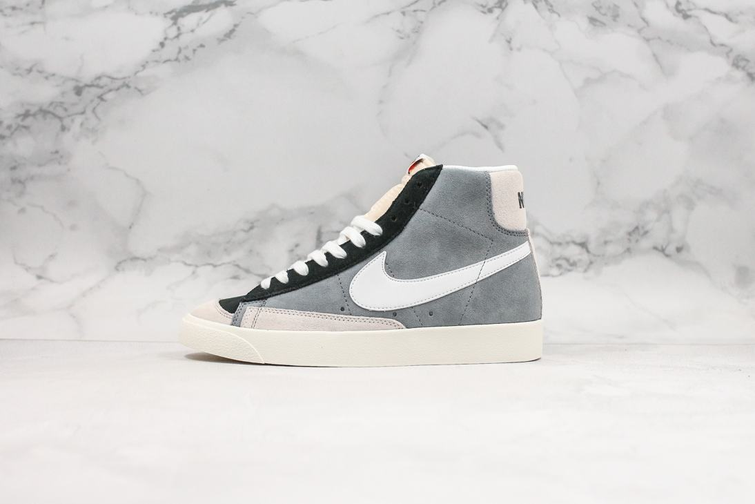 Nike Blazer Mid 77 Vintage Cool Grey White Black 1