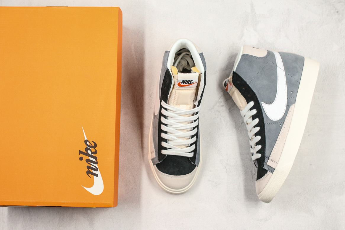 Nike Blazer Mid 77 Vintage Cool Grey White Black 8