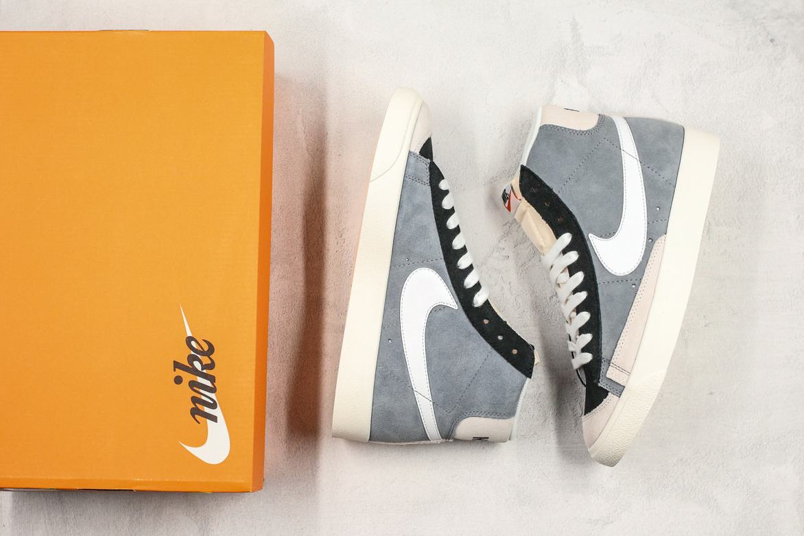 Nike Blazer Mid 77 Vintage Cool Grey White Black 9