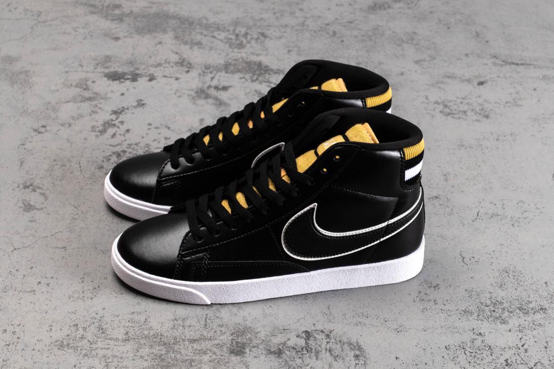 Nike Blazer Mid Black Wheat Gold W 2