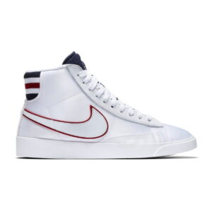 Nike Blazer Mid White Blackened Blue Red Crush W