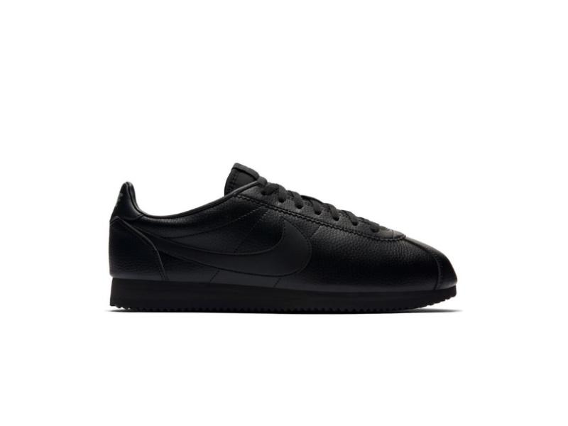 Nike Classic Cortez Leather Triple Black 1