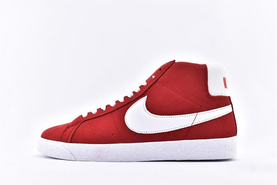 Nike SB Blazer Mid Red Suede 2017 1