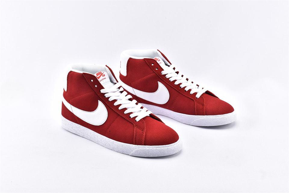 Nike SB Blazer Mid Red Suede 2017 2