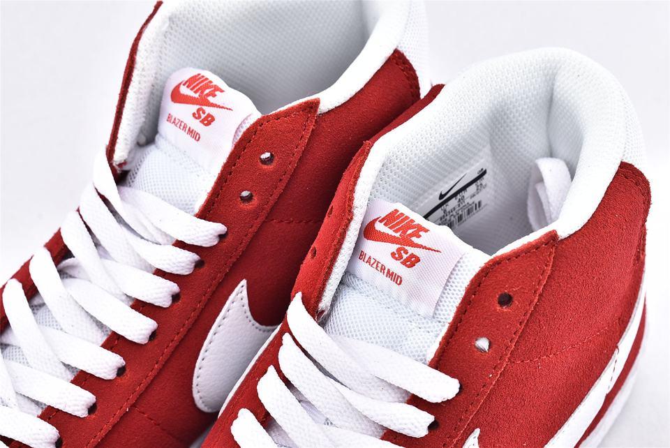 Nike SB Blazer Mid Red Suede 2017 4