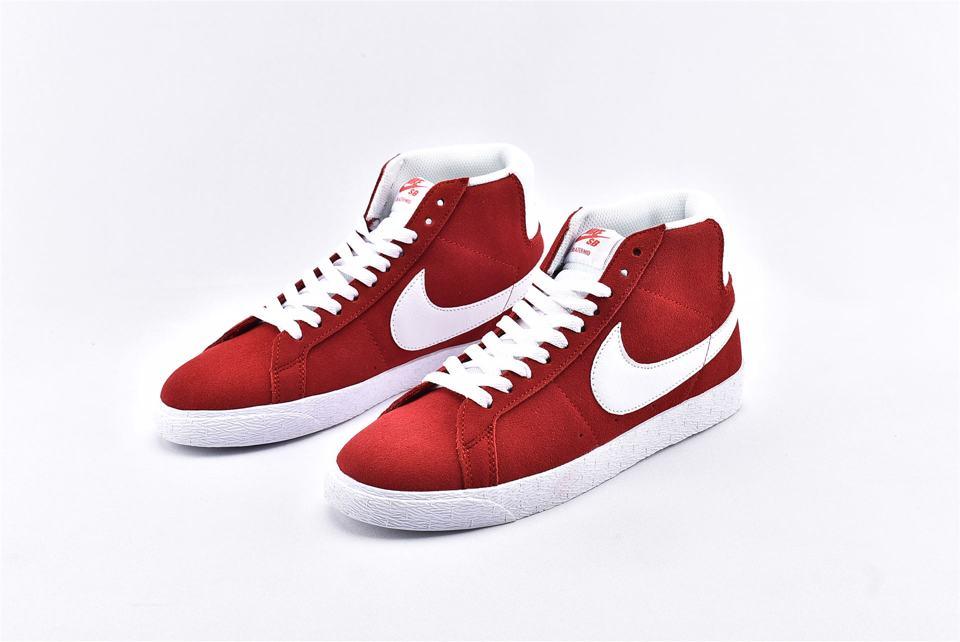 Nike SB Blazer Mid Red Suede 2017 5